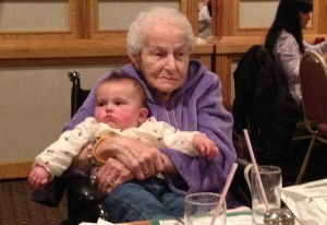 Gram with Taylor at Wrights Farm in Smithfield